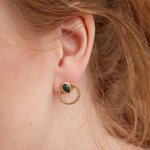 goudkleurige-nikkelvrije-oorbellen-met-donkergroen-steentje-vk