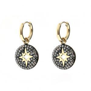 goudkleurige-nikkelvrije-oorringetjes-met-zwarte-steentjes-en-ster