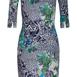 donkerblauwe-jurk-met-panterprint-tijgerprint-en-bloemenprint-ak