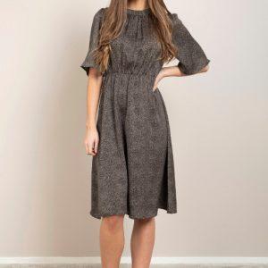 zwarte-jurk-kleine-zandkleurige-stipjes-hoge-taille-vk