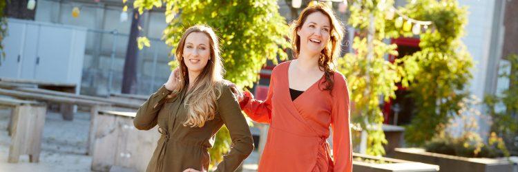 legergroene-en-roestbruine-jurk