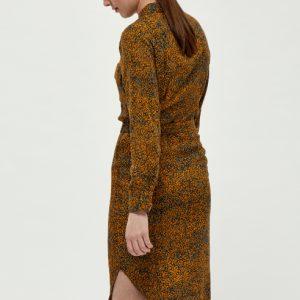 roestbruine-jurk-met-herfstachtige-print-in-petrol-okergeel-ak