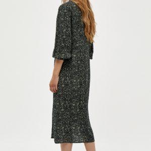 zwarte-midi-jurk-met-petrolkleurige-bloemenprint-ak
