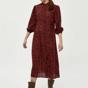 zwarte-midi-jurk-met-rode-bloemenprint-vk